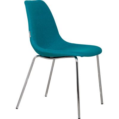 Krzesło FIFTEEN niebieskie/chromowane