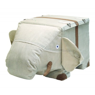 Elephant pouf canvas