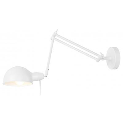 Lampa ścienna GLASGOW biała