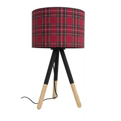 Lampa stołowa HIGHLAND szkocka kratka