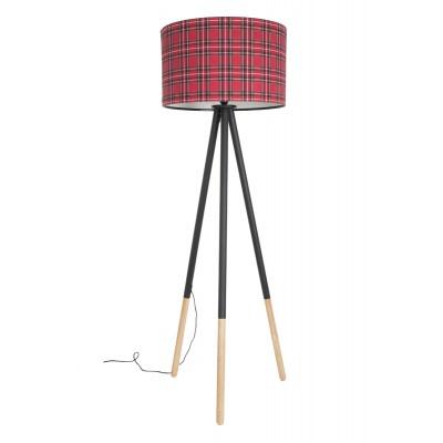 Lampa podłogowa HIGHLAND szkocka kratka