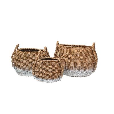 basket set bowl white